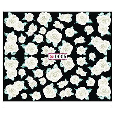 꽃/러블리 - 핑거 - 3D 네일 스티커 - 이 외 6.2*5.3*0.1