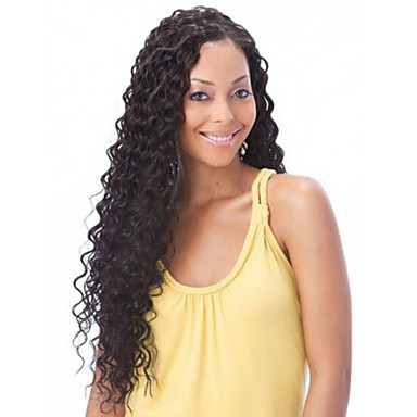 In Stock 10-30inch 100% Brazilian Human Hair Deep Wave Natural Color Lace Front Wig & U Part Wig