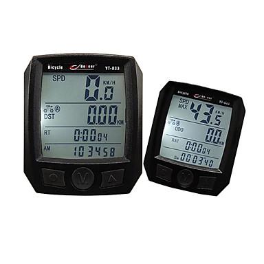 Rower górski Komputer rowerowy Time - czas od rozpoczęcia Czarny PVC