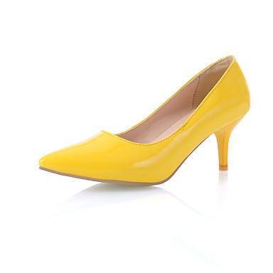 Naisten Kengät Tekonahka Kevät Kesä Syksy Stilettikorko varten Toimisto & ura Puku Musta Keltainen Punainen Sininen Kultainen