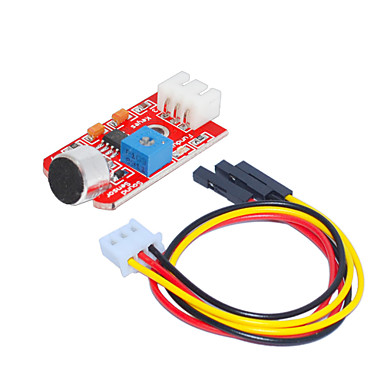 lyd sensor (rød) 1 hull hvit terminal med 3pin dupont ledning