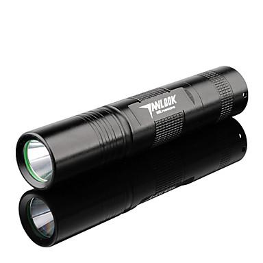 TANLU 3 LED손전등 손전등 LED 250 lm 3 모드 크리Q5 미니 조절가능한 초점 충전식 자기 방어 줌이 가능한 용 캠핑/등산/동굴탐험 일상용 사이클링 사냥 등산 야외 낚시 여행 드라이빙 일 멀티기능 네 블랙