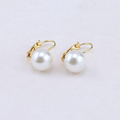 Sitne naušnice Viseće naušnice Moda Europska Imitacija bisera Kubični Zirconia Legura Zlato Pink Jewelry Za 1set