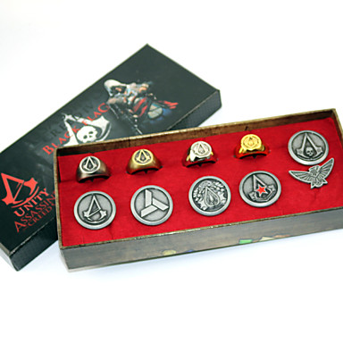 Biżuteria / Znaczek Zainspirowany przez Assassin's Creed Connor Anime / Gry Video Akcesoria do Cosplay Znaczek Srebrny Slitina Męskie