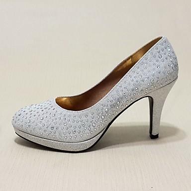 Femme Chaussures Similicuir Printemps / Eté Talon Aiguille Paillette / Paillette Brillante Argent / Rouge / Doré / Mariage