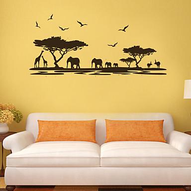 Paysage Animaux Botanique Bande dessinée Stickers muraux Autocollants avion Autocollants muraux décoratifs, PVC Décoration d'intérieur