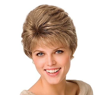 Syntetiske parykker Bølget Syntetisk hår Parykk Lokkløs