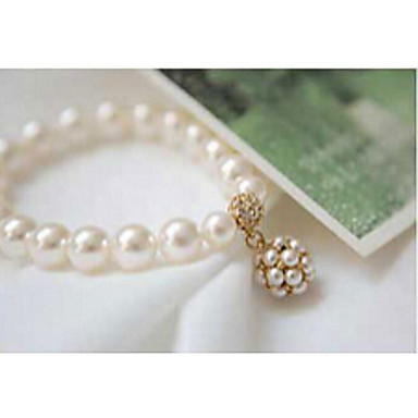 Bransoletki (Kryształ górski/Sztuczna perła/Biżuteria pozłacana) - Łańcuszek Vintage/Urocza/Imprezowa/Do biura/Na co dzień