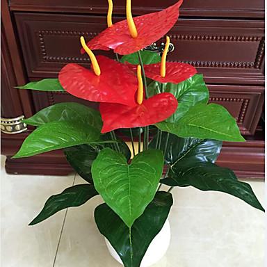 Fleurs artificielles 1 Une succursale Style Simple Plantes Fleur de Table