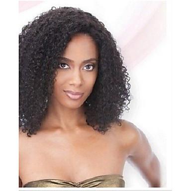 på lager 10-30inch afro kinky krøllete blonder foran parykker 130 tetthet brazilian jomfru menneskehår u del parykk for svarte kvinner