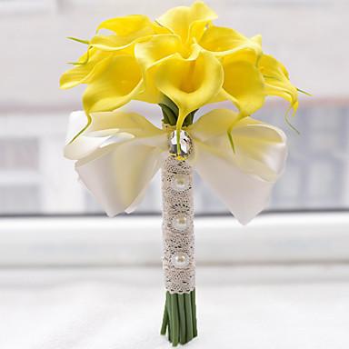 Λουλούδια Γάμου Μπουκέτα Γάμου Χάντρες Πολυεστέρας Σατέν Αφρός 8,27