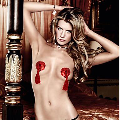 povoljno Grudnjaci-Žene Šljokice Rese Vodeni / gel grudnjak Grudnjaci Jednobojni Super seksi Crvena Crvena Pink