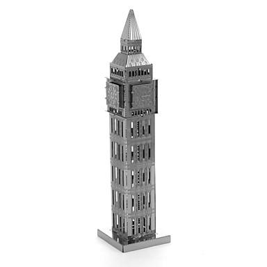 voordelige 3D-puzzels-Houten puzzels Modelbouwsets Houten modellen Big Ben Metallic Kinderen Volwassenen Jongens Meisjes Speeltjes Geschenk