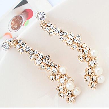 Boucles d'oreille goutte Perle Imitation de perle Strass Alliage Mode Écran couleur Bijoux 2pcs