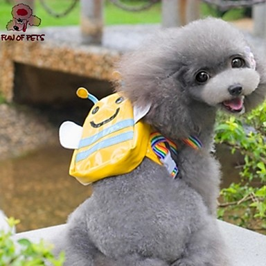 Pets Bag Carrier & Travel Backpack Dog Clothes Solid Colored Yellow Fabric Cotton Costume For Pets Classic
