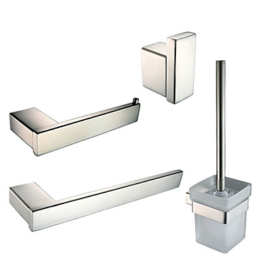 Набор аксессуаров для ванной Кольцо для полотенец Держатель для туалетной бумаги Крючок для халата Держатель для ёршика Современный