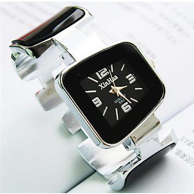Mulheres Relógio de Moda Quartzo Aço Inoxidável Banda Bracelete Preta Branco Azul Rosa Amarelo