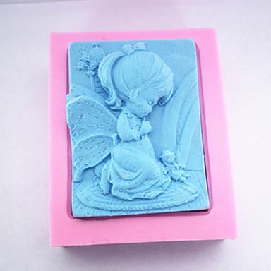 φόρμες ψησίματος 3δ Η κοριτσάκι σαπούνι μούχλα