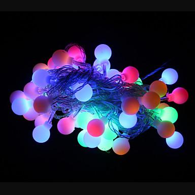50-LED 9M Waterproof Outdoor Holiday Decoration RGB Light LED String Light (AC220V)