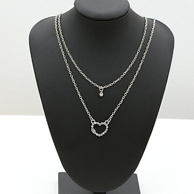Femme Cristal Collier multi rangs - Strass, Cristal Autrichien, Imitation Diamant