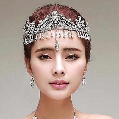 Damen Strass Legierung Künstliche Perle Kopfschmuck-Hochzeit Besondere Anlässe im Freien Kopfkette 1 Stück