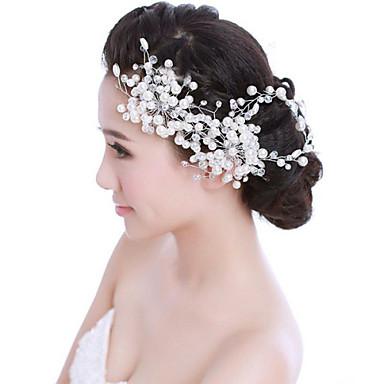 απομίμηση μαργαριτάρι λουλούδια headpiece κομψό κλασικό θηλυκό στυλ
