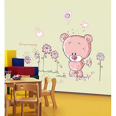 irrotettava seinä tarroja söpö karhu sarjakuva lastenhuone makuuhuoneessa seinä tarroja