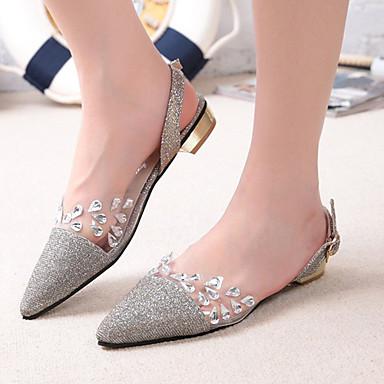 Γυναικεία παπούτσια - Πέδιλα - Γάμος / Γραφείο & Δουλειά / Φόρεμα / Πάρτι & Βραδινή Έξοδος - Χαμηλό Τακούνι - Ανατομικό / Μυτερό - Γκλίτερ