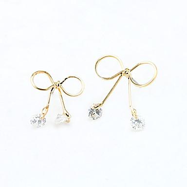 Women's Crystal Drop Earrings - Rhinestone, Gold Plated, Austria Crystal Gold, Silver
