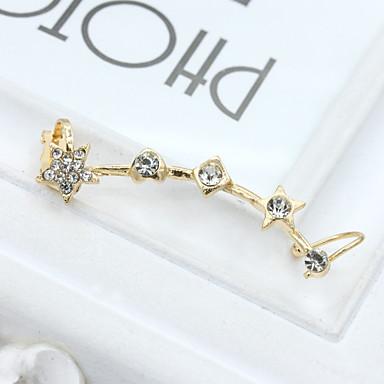 Γυναικεία Κουμπωτά Σκουλαρίκια Κρυστάλλινο Μοντέρνα Ευρωπαϊκό Στρας Επιχρυσωμένο 18K χρυσό Προσομειωμένο διαμάντι Αυστριακό κρύσταλλο