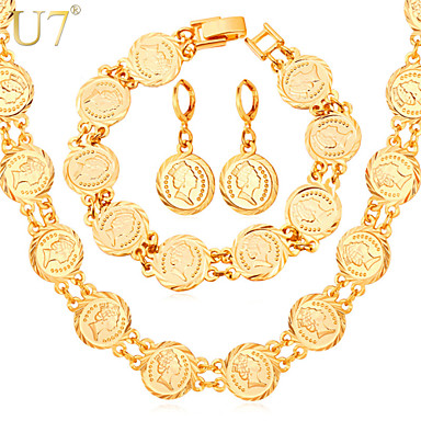 Charm Vintage Cute Party Work Casual Link/Chain Platinum Plated Gold Plated Alloy Bracelet Necklace Earrings