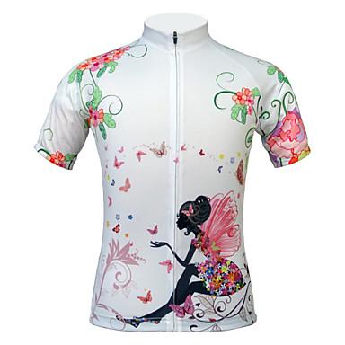 JESOCYCLING Maillot de Cyclisme Femme Manches Courtes Vélo Maillot Hauts/Top Séchage rapide Résistant aux ultraviolets Résistant à la