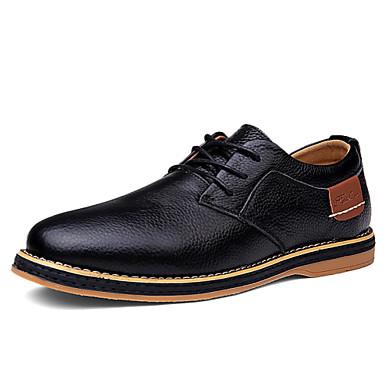 ΑντρικόΓάμος Γραφείο & Δουλειά Καθημερινό Πάρτι & Βραδινή Έξοδος-Επίπεδο Τακούνι-Τυπική παπούτσια-Δέρμα-Μαύρο Μπλε Καφέ
