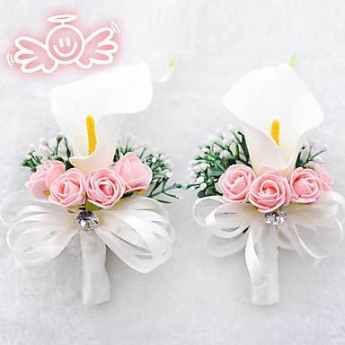 Λουλούδια Γάμου Ελεύθερης Μορφής Μπουτονιέρες Γάμος Πολυεστέρας Σατέν Αφρός 3,54