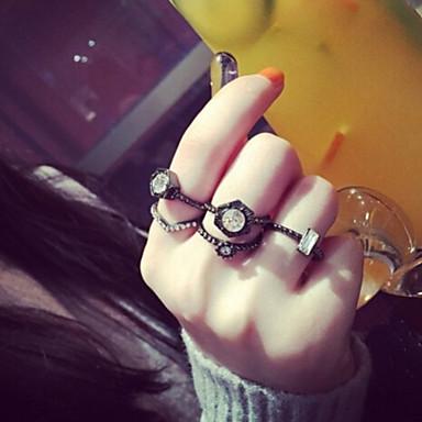 Gyűrűk Hétköznapi Ékszerek Ötvözet Női Midi gyűrűk 1set,7 Fekete
