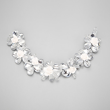 кристалл имитация жемчужный сплав цветы головной убор классический женский стиль