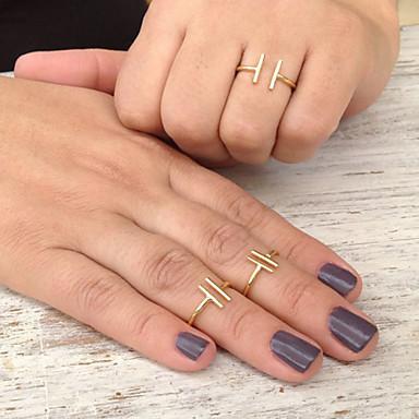 Mulheres Anel de declaração - Liga Estilo simples, Fashion, Aberto Tamanho Único Dourado / Prata Para Festa