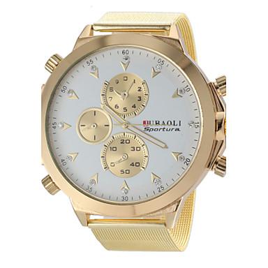 JUBAOLI 남성용 손목 시계 밀리터리 시계 석영 뜨거운 판매 스테인레스 스틸 밴드 참 골드