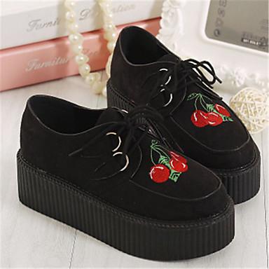 Γυναικεία παπούτσια - Oxfords - Καθημερινά - Πλατφόρμα - Creepers / Στρογγυλή Μύτη - Δερματίνη - Μαύρο