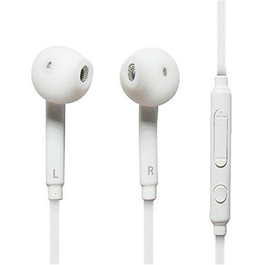 Earbud Wired Headphones Plastic Mobile Phone Earphone with Volume Control with Microphone Headset