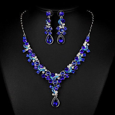 Women's Jewelry Set Earrings Necklace - Regular Others Dark Blue Multicolor Golden Nine red For Wedding Party Special Occasion