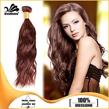 Υφάνσεις ανθρώπινα μαλλιών Βραζιλιάνικη Φυσικό Κυματιστό 3 Κομμάτια υφαίνει τα μαλλιά