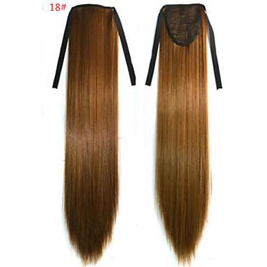 Gerade Synthetik Haarstück Haar-Verlängerung 18 Zoll # 18