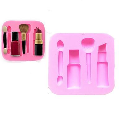 bakeware silikon makeup penn bakeformene for fondant godteri sjokoladekake (tilfeldige farger)