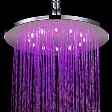 コンテンポラリー レインシャワー クロム 特徴 - LED, シャワーヘッド