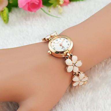 Dame Quartz Armbåndsur Imiteret Diamant Legering Bånd Blomst / Elegant Sort / Hvid / Rød / Brun / Pink