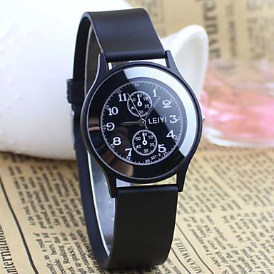 Мужской Наручные часы Кварцевый Pезина Группа Черный