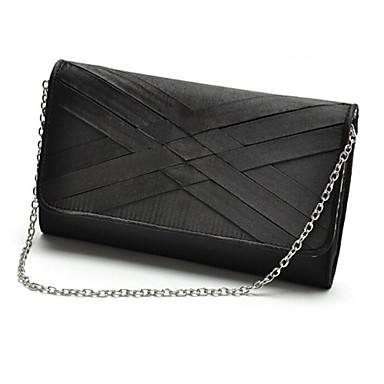 Γυναικείο PU Καθημερινή Τσάντα Φάκελος / Βραδινή τσάντα Γκρι / Μαύρο