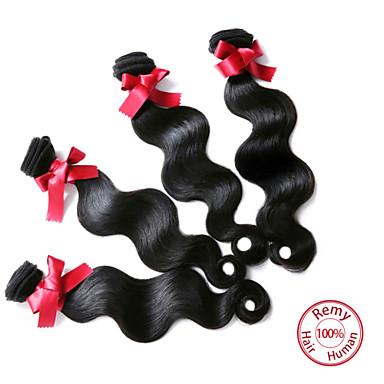 Peruvian Hair Body Wave Human Hair Weaves 4 Pieces 0.4