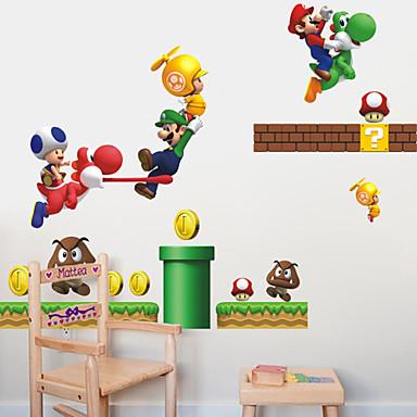 Tiere Menschen Romantik Mode Architektur Cartoon Design Feiertage Fantasie Sport Wand-Sticker Flugzeug-Wand Sticker Dekorative Wand